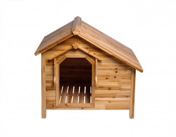 <PRE>Wood Dog House Outdoor Wooden Pet Shelter Bed M w/ Porch </PRE>zoom4
