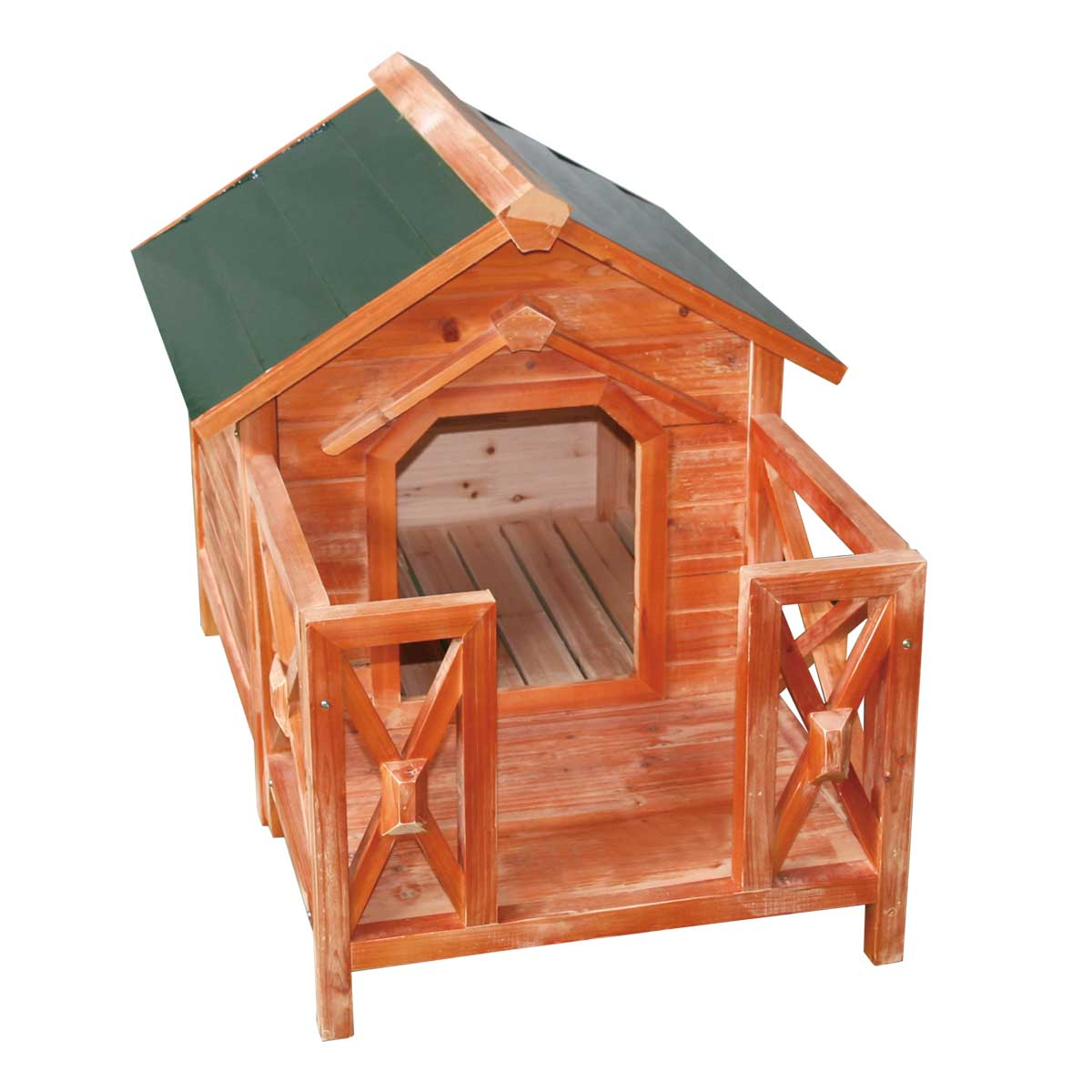 Wooden Dog House Outdoor Wooden Pet Shelter Bed M W Porch