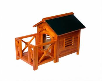 <PRE>Wooden Dog House Outdoor Wooden Pet Shelter Bed Large w/ Porch</PRE>zoom1