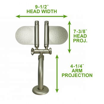 spec-<PRE>Shower Head Solid Brass Nickel 98 Mist </PRE>