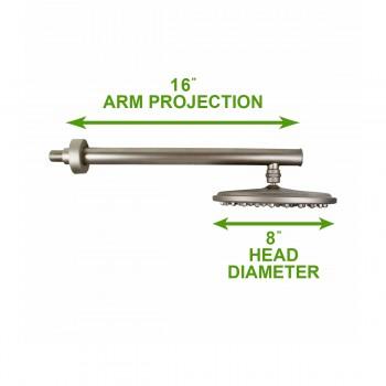 spec-<PRE>Shower Heads Solid Brass Nickel 75 Fine Mist Jets </PRE>