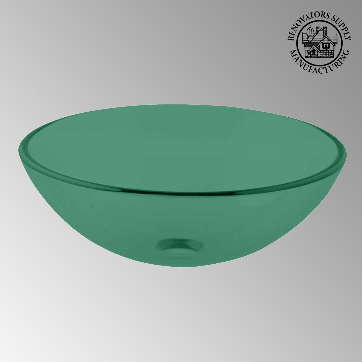 Emerald Tempered Glass Vessel Sink With Drain Single