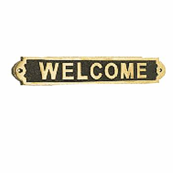 Solid Brass Sign WELCOME Polished Plaques 17116grid