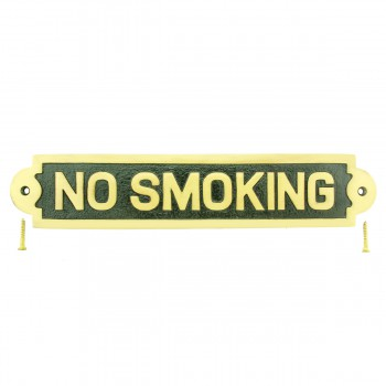 Solid Brass Plaques NO SMOKING Sign Polished Brass Plate17119grid