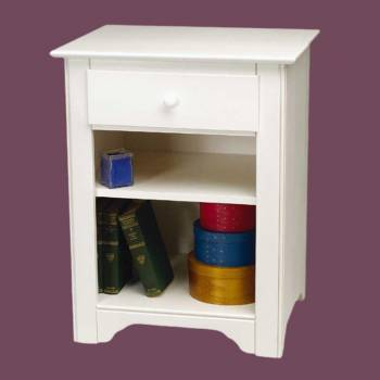 <PRE>End Table White Hardwood Shaker Night End Table </PRE>