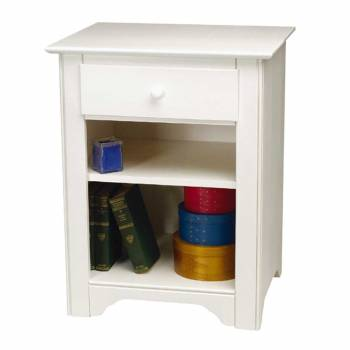 Shaker Night Table Solid Hardwood  White stain