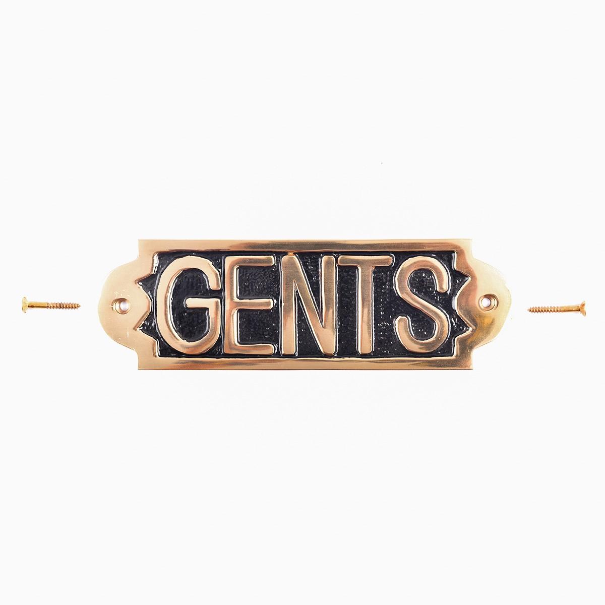 Brass plaque GENTS