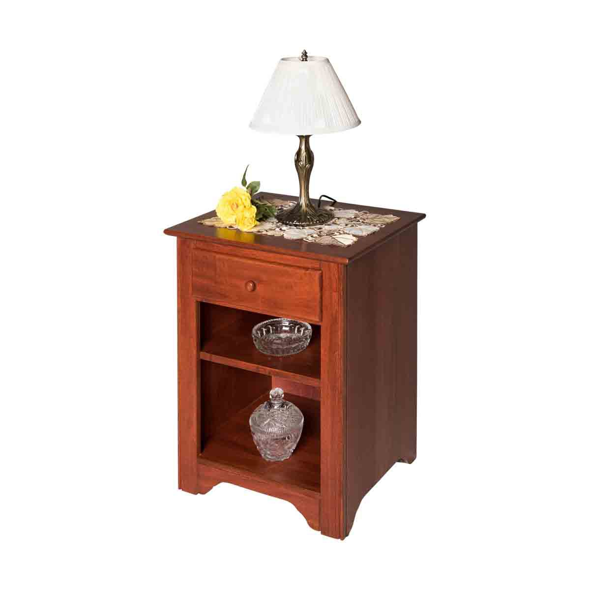 End Tables Bedroom Cherry Stain Birch Shaker End Table