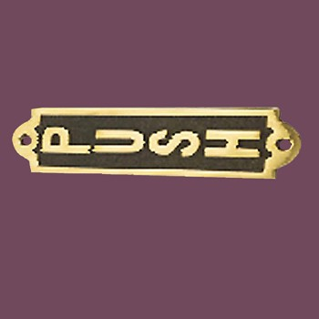 Polished Brass Plaques Push Sign For Doors Brass Plate 2 18 H X 7 W Door Push Sign Plate Plaque Solid Brass