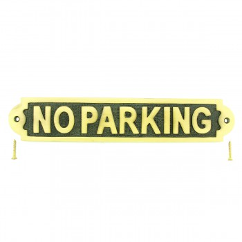 Solid Brass Plate NO PARKING Sign Polished Brass Plaques17129grid