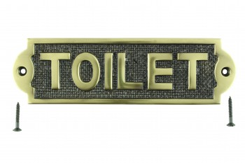 <PRE>Solid Brass Plaques TOILET Sign Polished Brass Plate</PRE>zoom1