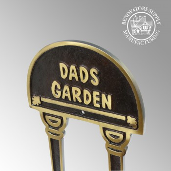 Solid Brass Plaques Garden Sign DADS GARDEN Brass Plate Garden Yard Brass Sign Brass Sign Plate Brass Plaque