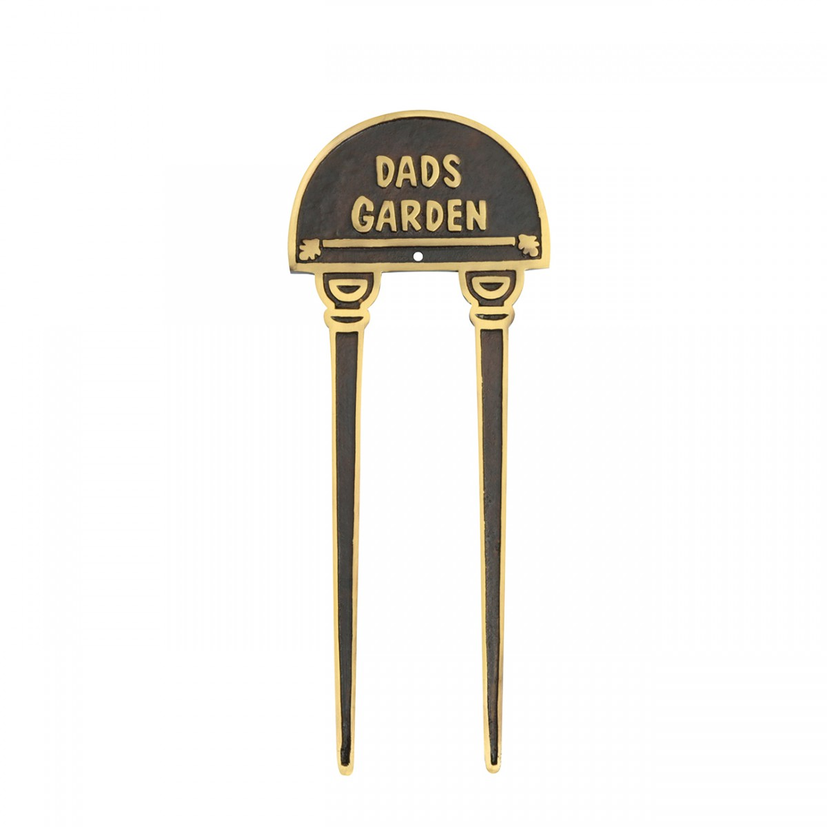 Solid Brass Plaques Garden Sign DADS GARDEN Brass Plate Garden Yard Brass Sign Brass Sign Plate Brass Plaque