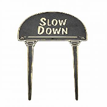 Solid Brass Sign Garden Yard Slow Down Polished Plaques Garden Yard Brass Sign Brass Sign Plate Brass Plaque