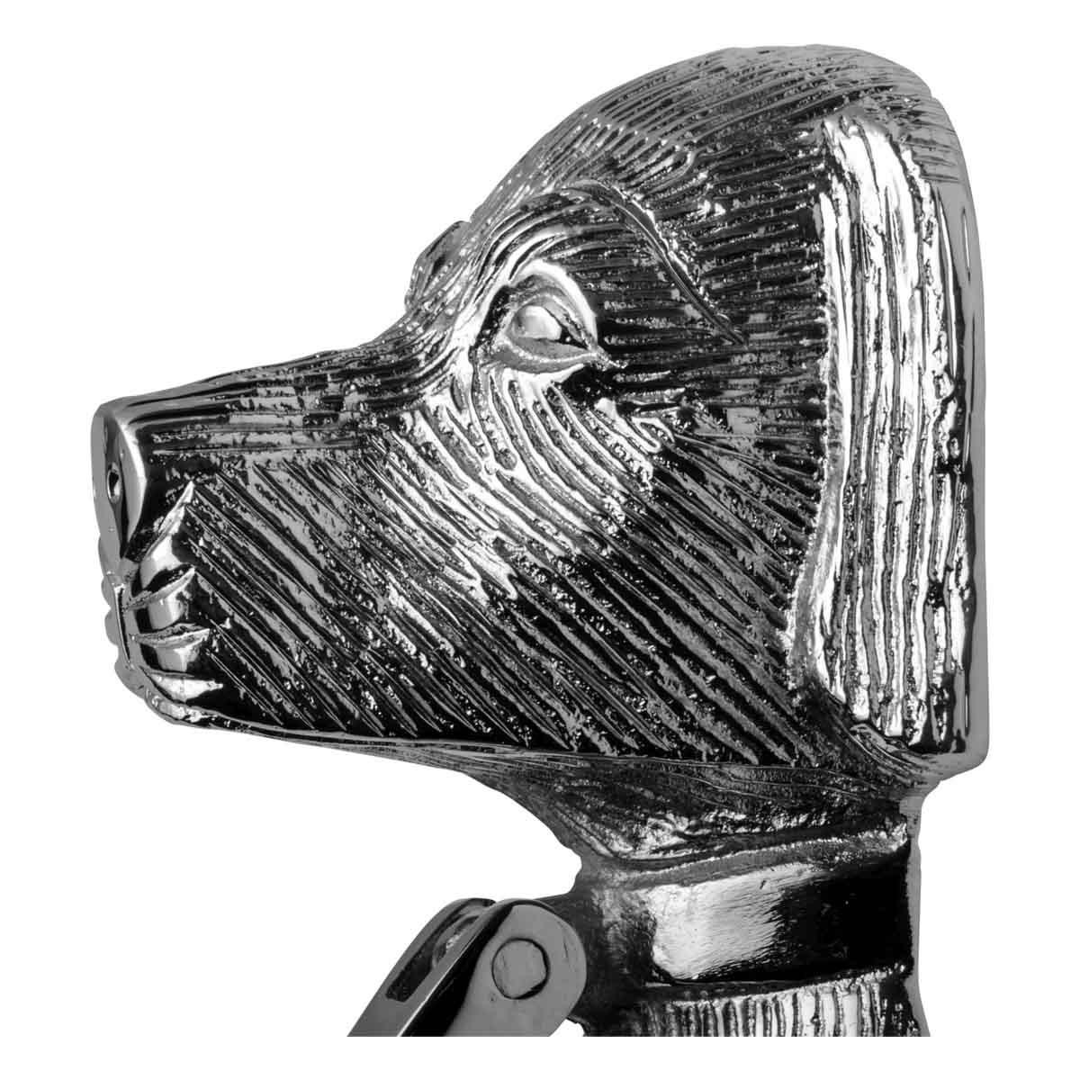 Chrome Solid Brass Door Knocker Large Dog Head 7 58H Dog Door Knocker Animal Door Knockers Door Knockers For Front Door