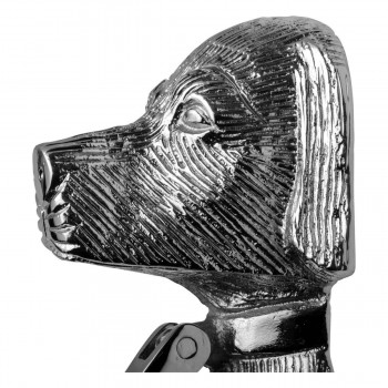 <PRE>Chrome Solid Brass Door Knocker Large Dog Head 7 5/8inchH </PRE>zoom11