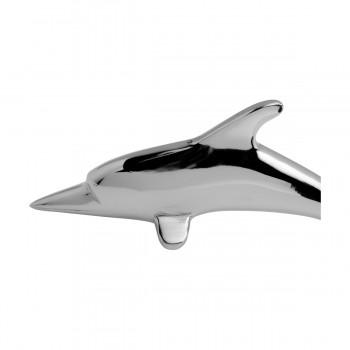 <PRE>Chrome Brass Vintage Dolphin Door Knocker Fish Flipper 8inchH  Suipply</PRE>zoom9
