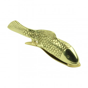 <PRE>Solid Brass Vintage Door Knocker Koi Fish 7.5inchH </PRE>zoom4
