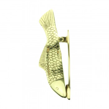 <PRE>Solid Brass Vintage Door Knocker Koi Fish 7.5inchH </PRE>zoom5