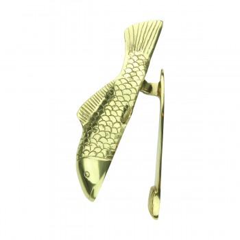<PRE>Solid Brass Vintage Door Knocker Koi Fish 7.5inchH </PRE>zoom6
