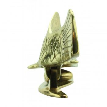 <PRE>Solid Brass Vintage Door Knocker Koi Fish 7.5inchH </PRE>zoom7