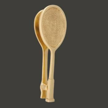 <PRE>Solid Brass Door Knocker Tennis Racket Badminton 7.5inchH </PRE>zoom2