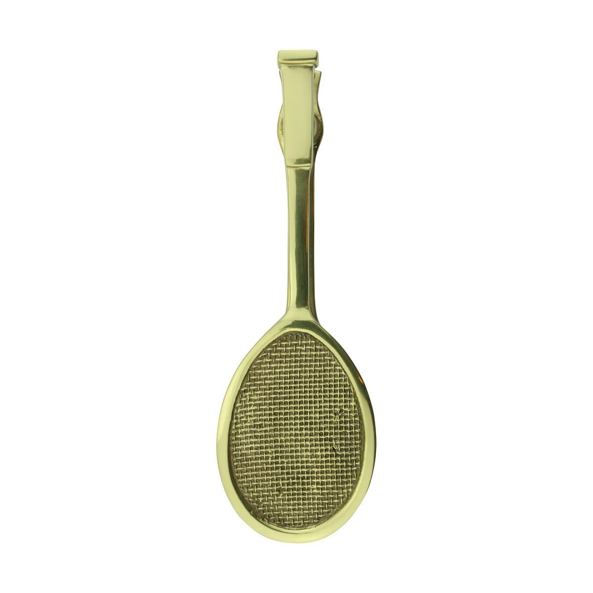 Solid Brass Door Knocker Tennis Racket Badminton 7.5H Brass Door Knockers Door Knockers For Front Door Tennis Door Knocker