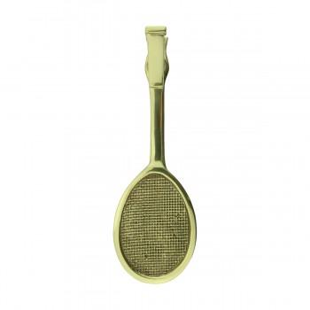 <PRE>Solid Brass Door Knocker Tennis Racket Badminton 7.5inchH </PRE>zoom4