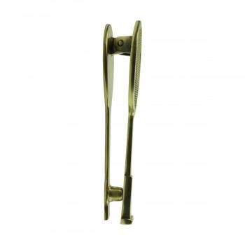 <PRE>Solid Brass Door Knocker Tennis Racket Badminton 7.5inchH </PRE>zoom6