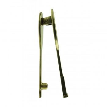 <PRE>Solid Brass Door Knocker Tennis Racket Badminton 7.5inchH </PRE>zoom7