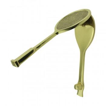 <PRE>Solid Brass Door Knocker Tennis Racket Badminton 7.5inchH </PRE>zoom10