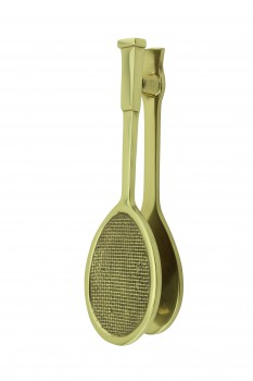 Solid Brass Door Knocker Tennis Racket Badminton 7.5