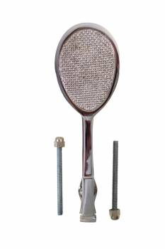 <PRE>Chrome Brass Door Knocker Tennis Racket Badminton 7.5inchH </PRE>zoom1