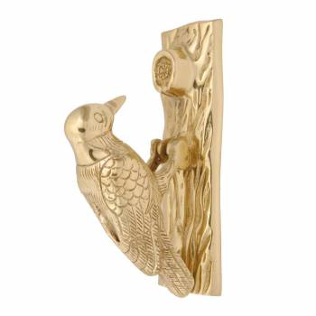 Solid Brass Vintage Door Knocker Woodpecker 65H