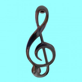 <PRE>Door Knocker Chrome Music Note 6&quot;H x 2.5&quot;W </PRE>
