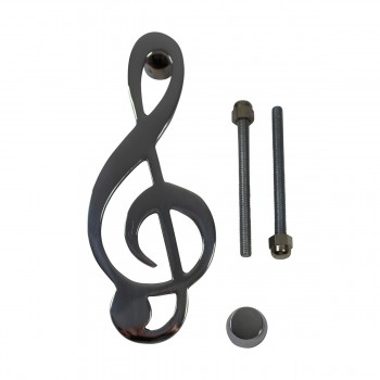 <PRE>Door Knocker Chrome Music Note 6inchH x 2.5&quot;W </PRE>zoom3