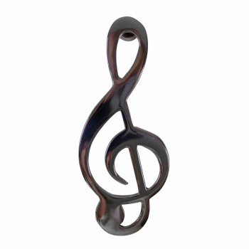 Door Knocker Chrome Music Note 6