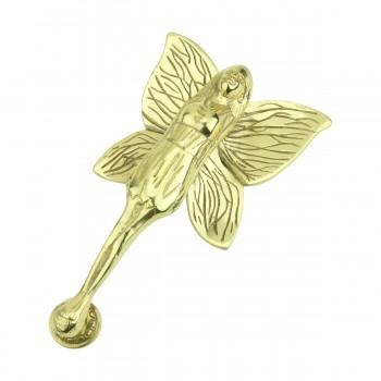 Solid Brass Vintage Door Knocker Flower Fairy 7H x 4W Fairy Door Knockers Brass Door Knockers Door Knockers For Front Door