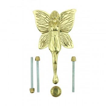 Solid Brass Vintage Door Knocker Flower Fairy 7