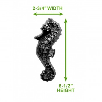 "spec-<PRE>Chrome Solid Brass Vintage Door Knocker Sea Horse 6.5""H </PRE>"