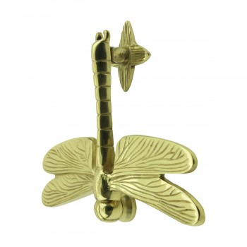 spec-<PRE>Solid Brass Vintage Door Knocker Dragonfly </PRE>