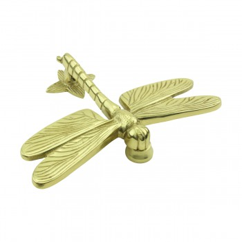 <PRE>Solid Brass Vintage Door Knocker Dragonfly </PRE>zoom3