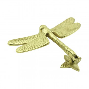 <PRE>Solid Brass Vintage Door Knocker Dragonfly </PRE>zoom4