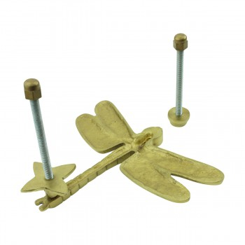 <PRE>Solid Brass Vintage Door Knocker Dragonfly </PRE>zoom8