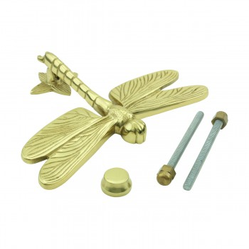<PRE>Solid Brass Vintage Door Knocker Dragonfly </PRE>zoom9