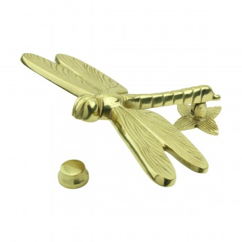 <PRE>Solid Brass Vintage Door Knocker Dragonfly </PRE>zoom13