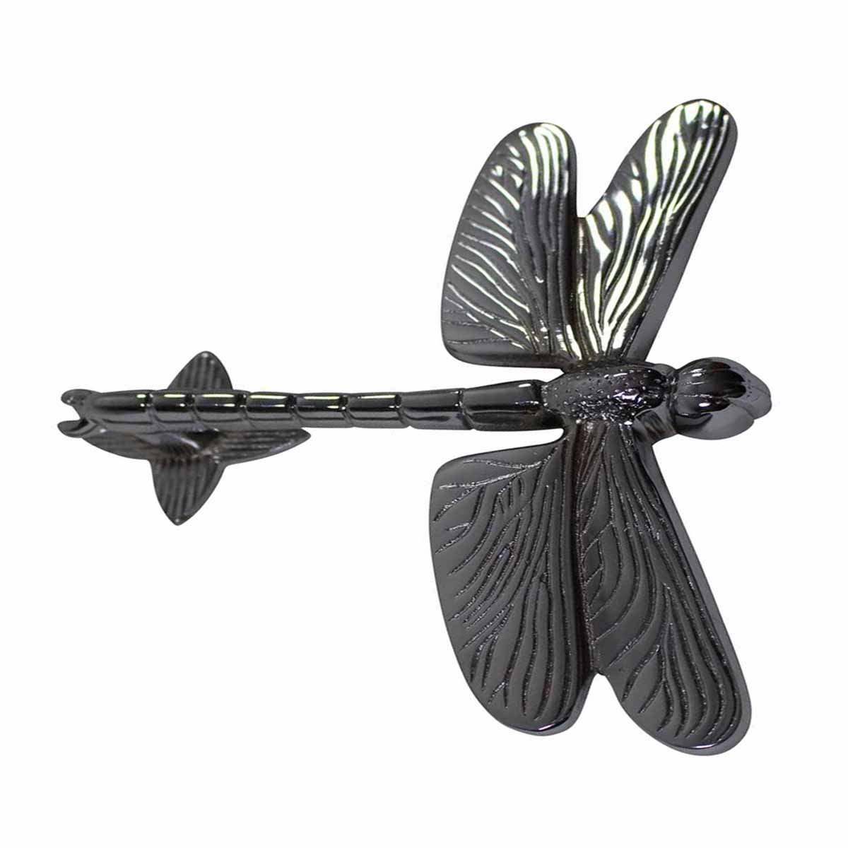 Chrome Solid Brass Vintage Door Knocker Dragonfly
