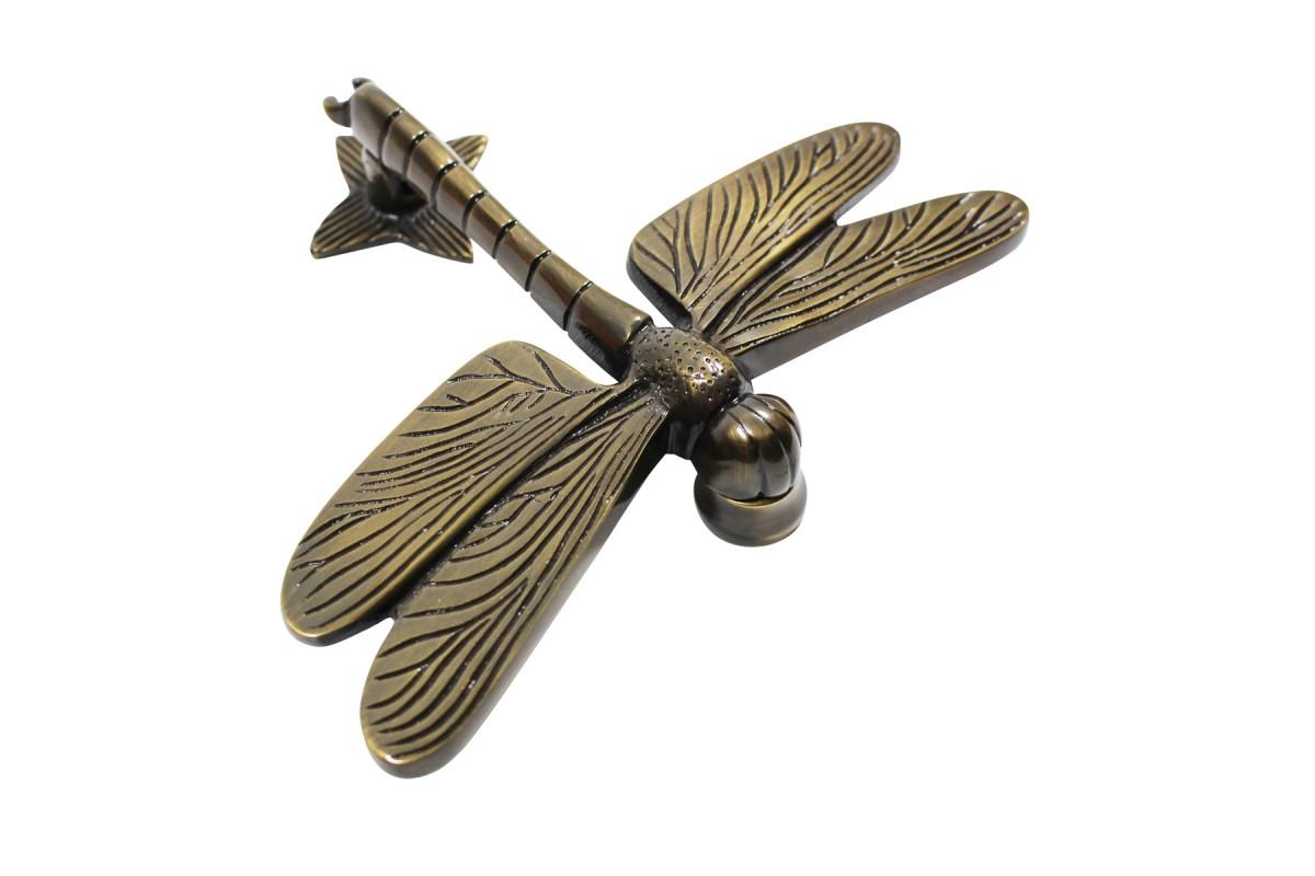 ... U003cPREu003eAntique Door Knocker Brass Antique Door Hardware Dragonfly Door  Knocker 4 7/ ...