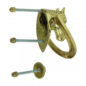 <PRE>Solid Brass Door Knocker Heavy Duty Horse 5.25inchH </PRE>zoom7