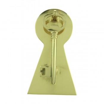 <PRE>Solid Brass Vintage Door Knocker Key Plate 6inch H </PRE>zoom3